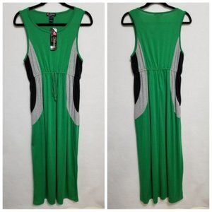 Green Maxi Dress Size Large Love Delirious NWT